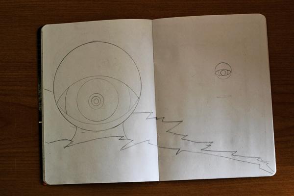 CzrArt: Time Traveler Sketchbook Project: Sketch Phase: Page 7