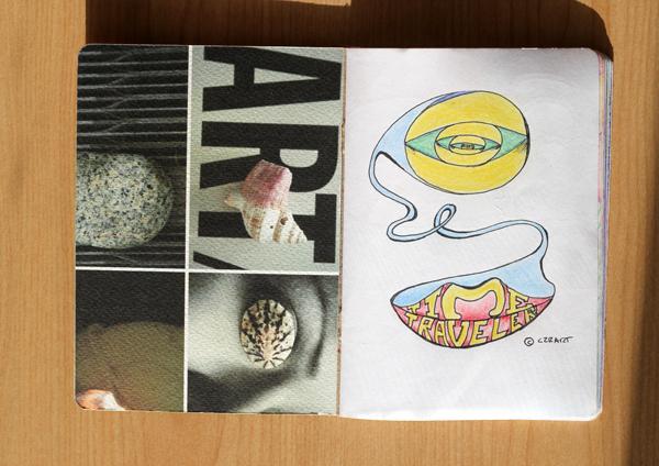 CzrArt: Time Traveler Sketchbook Project: Final: Page 1