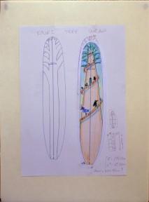 CzrArt: Roger Hall Vintage Reissue Longboard Artwork 1