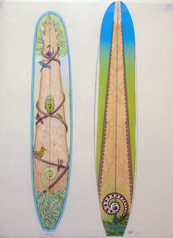 CzrArt: Roger Hall Vintage Reissue Longboard Artwork 3