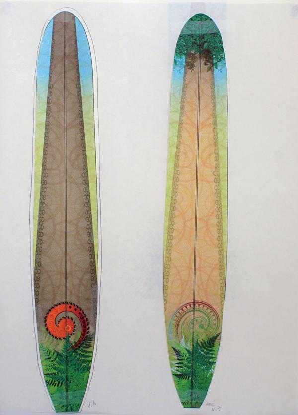 CzrArt: Roger Hall Vintage Reissue Longboard Artwork 4