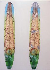 CzrArt: Roger Hall Vintage Reissue Longboard Artwork 5