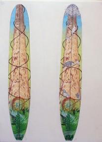 CzrArt: Roger Hall Vintage Reissue Longboard Artwork 6