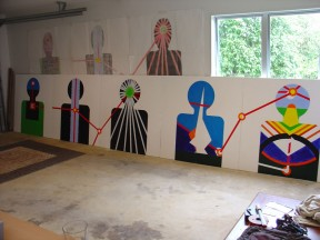CzrArt - Wall of Paradise progress photo